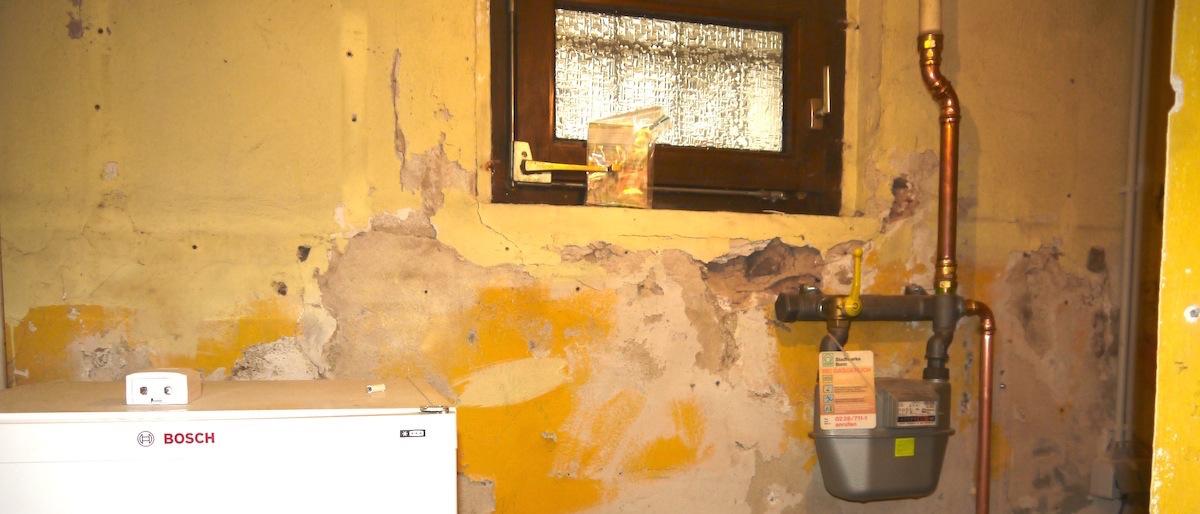 Keller mit Gas-Wasseranschluss
